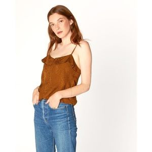 NWT Anthropologie LACUSAbronze tanktop/blouse sz L